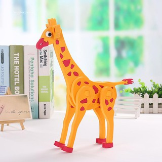 WX_3D EVA Animal Assembly DIY Jigsaw Puzzle Model Kids Child Education Toy Gift