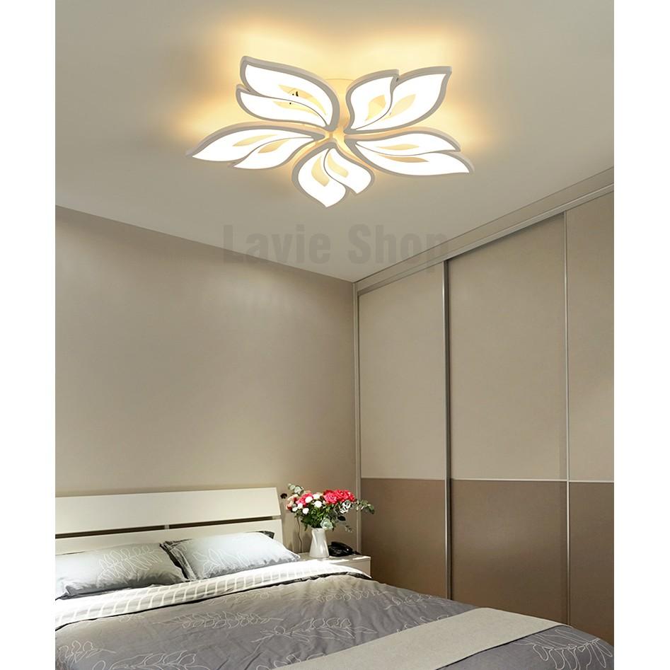 Đèn Ốp Trần - Đèn Áp Trần Trang Trí Phòng Phòng Khách, Phòng Ngủ, Phòng Ăn 3 Chế Độ Sáng Có Điều Khiển Từ Xa V2 HB88
