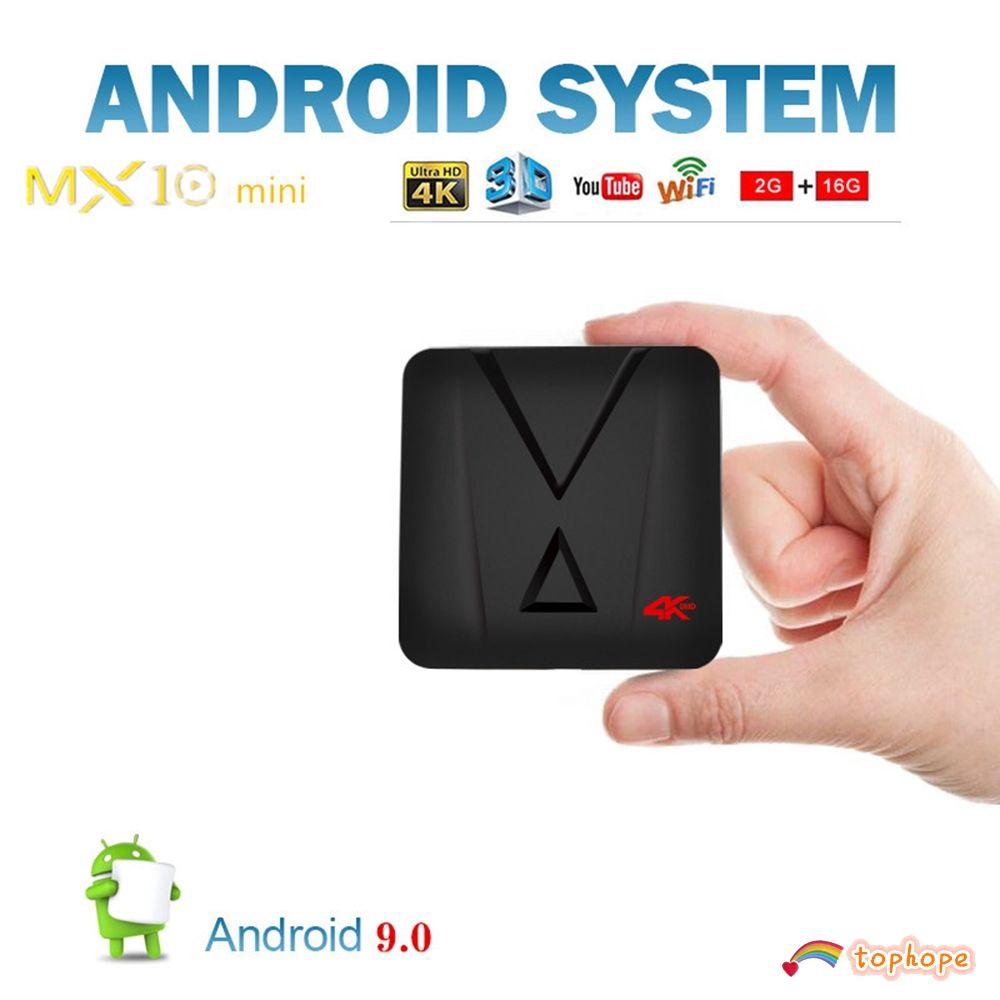 Thiết bị chuyển đổi TV thường thành smart TV mx10 mini Android 9.0 RK3328 CPU 4 nhân 3D 4K WiFi Media Player