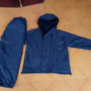 Bộ áo mưa hai lớp kiểu gió cao cấp