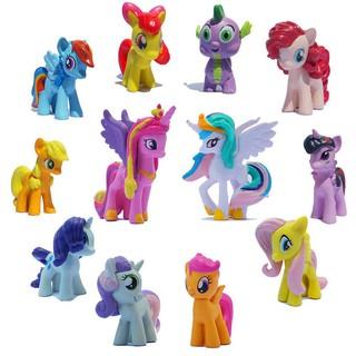 12pcs Little Pony Friendship Magic Action Figure Rainbow Set Kid Toy