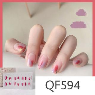 Bộ 14 miếng dán móng tay thấm nước có độ đàn hồi tốt (QF594-QF595) thumbnail