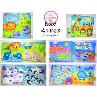 sách vải tập đếm chủ đề Baby Animals