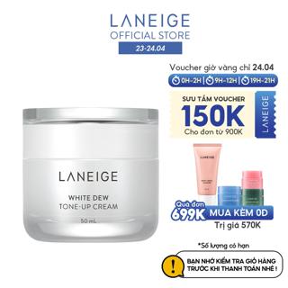"""Kem hiệu chỉnh nâng tông làm trắng da Laneige White Dew Tone-Up Cream 50Ml giá chỉ còn <strong class=""""price"""">74.900.000.000đ</strong>"""
