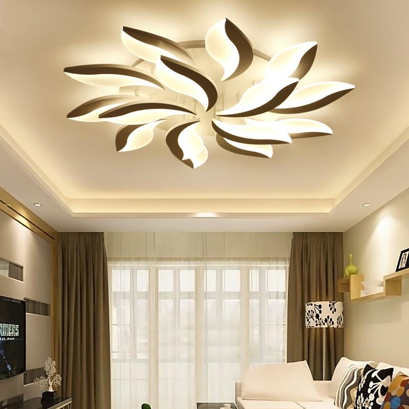 ĐÈN led ốp trần, đèn ốp trần trang trí phòng khách 15 cánh 3 chế độ sáng kèm điều khiển từ xa, bảo hành 1 năm TB102