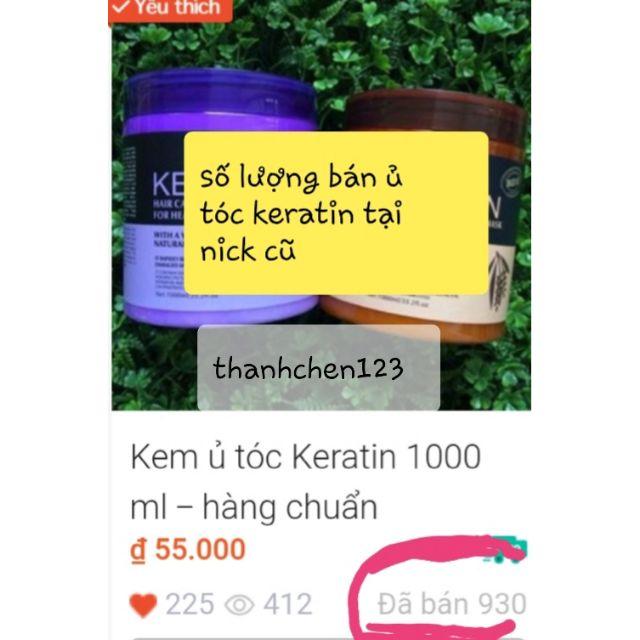 Kem ủ tóc Keratin 1000 ml - hàng chuẩn