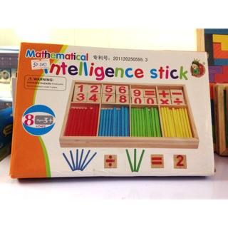 Bộ sản phẩm que học toán thông minh bằng gỗ – Mathematical Intelligence stick (bảng tính)
