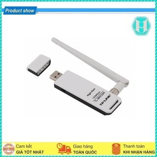 USB Thu Wifi Tplink TL-WN722N 150Mbps Có Anten I Bảo Hành 24 Tháng I Chính Hãng I Đổi Trả Miễn Phí Trong 7 Ngày Đầu