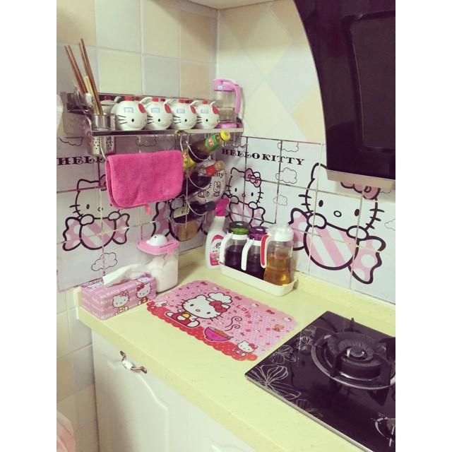 Decan dán tường bếp Hello Kitty  KH9139