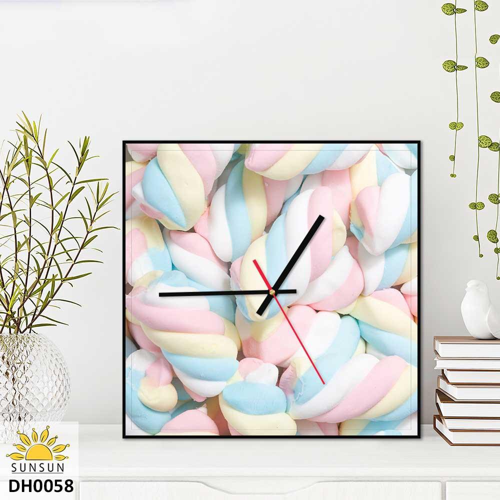 Tranh đồng hồ treo tường vuông | MS DH0058