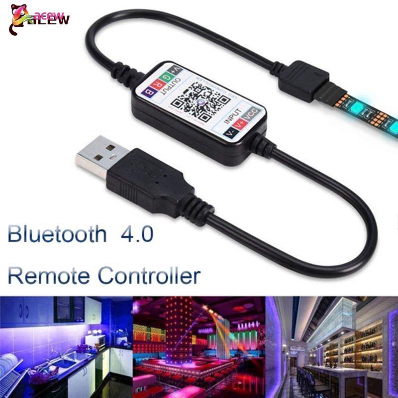 Bộ điều khiển dây đèn LED 5-24V RGB không dây Bluetooth 4.0 acew