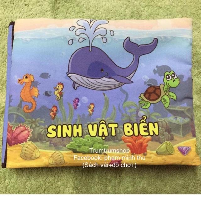 """?trumshop-sách vải tiếng Việt Chủ đề 5 :"""" sinh vật biển"""""""