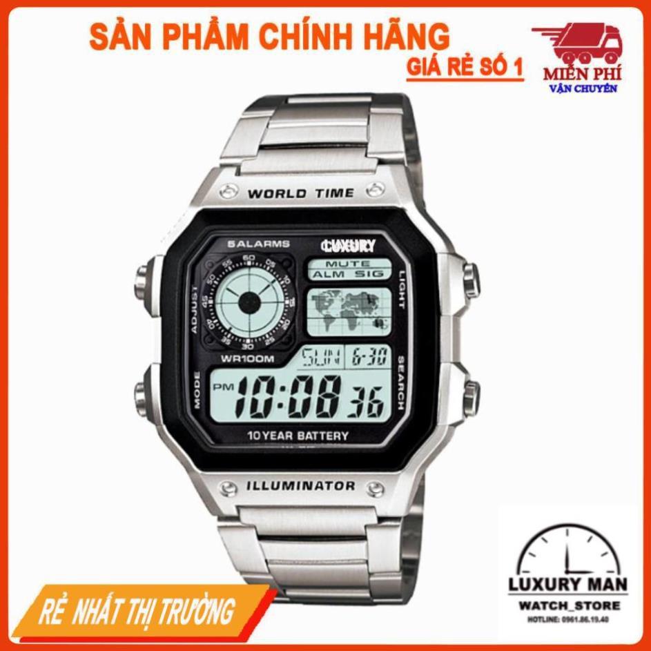 Đồng hồ nam CSO AE1200 WHD classic chống nước dây thép không gỉ GuStore