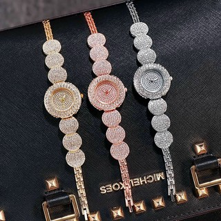 Đồng hồ thời trang nữ Luobos Lb1 mặt tròn đính đá cực đẹp gce14