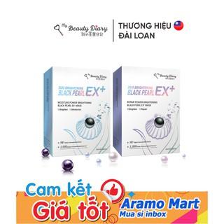 Hộp 6 miếng Mặt nạ My Beauty Diary Đài Loan EX+ Ngọc Trai Đen nhân đôi tác dụng trắng sáng *AramoMart*