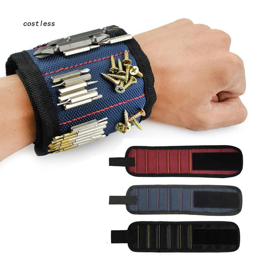 CTLS_Strong Magnetic Wristband Hand Bracelet Pouch Screws Drill Tool Holder Bag