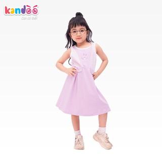 Váy sát nách bé gái KANDOO màu tím phong lan, chất liệu cotton cao cấp mềm mịn, thoáng mát, an toàn cho bé - DG16DR03