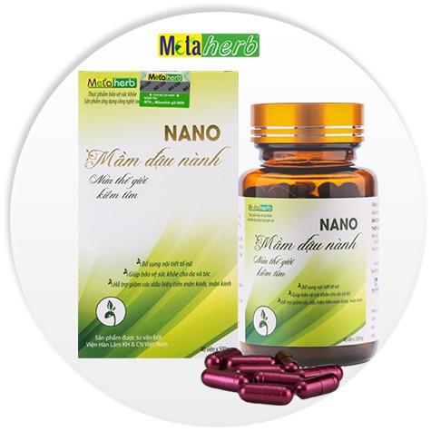 Viên Uống Nano Mầm Đậu Nành Metaherb - Bổ Sung nội tiết tố toàn diện