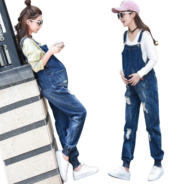 Quần Jeans Lưng Cao Cho Phụ Nữ Mang Thai