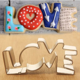 Forms Shape Biscuit Cookie Cutter Mould Love Letter Mold