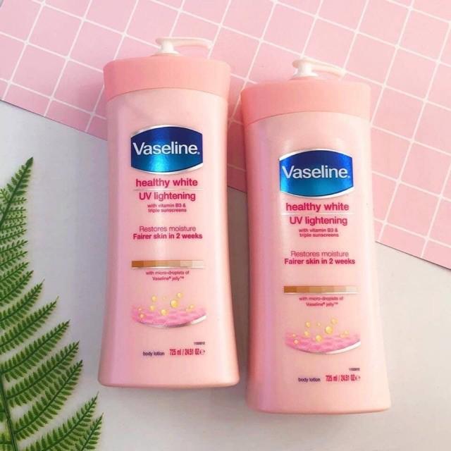 Sữa dưỡng thể sáng da và cân bằng độ ẩm Vaseline Healthy White UV Lightening Restore Moisture Body Lotion 725ml