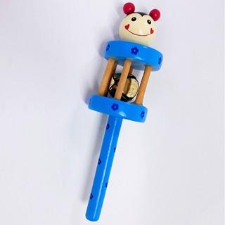 Đồ chơi thông minh xúc sắc 1 chuông hình thú dễ thương bằng gỗ đẹp cho bé thumbnail