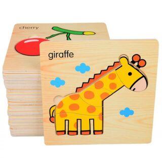 Combo 8 miếng xếp hình gỗ cho bé