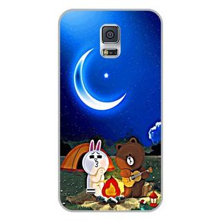 Ốp lưng dẻo Samsung S5 – Brown Cony Đàn