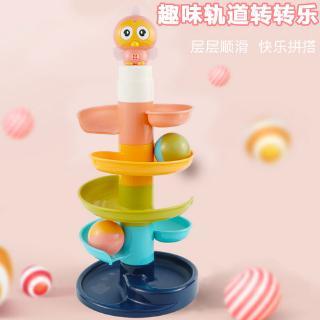đồ chơi tháp bóng lăn