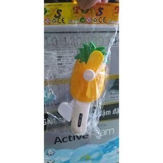 quạt bóp tay cho bé hình quả thơm vàng xinh xắn