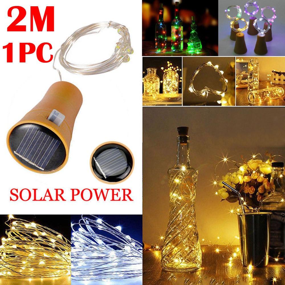 Dây đèn LED 2m trang trí chai rượu vang sử dụng năng lượng mặt trời