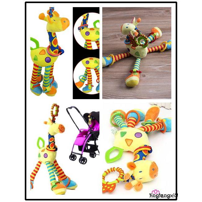 ALL-Cute Baby Toys Fun Musical Stroller Toy soft Toddler Giraffe Crib Toy