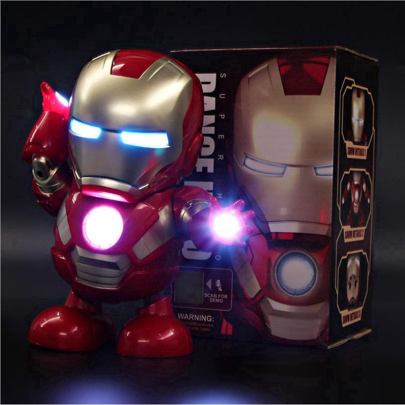 children toy Dancing Iron Man Robot Light Music Electric Toys