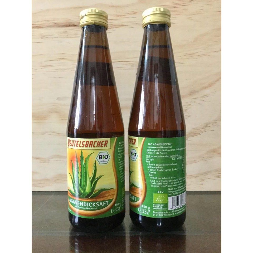 (Beutelsbacher) - Mật cây thùa (agave syrup) hữu cơ 330ml
