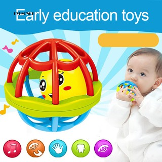 ♕Baby Teether Rattle Toy Intelligence Grasping Gums Hand Bell Funny Hollow Gift