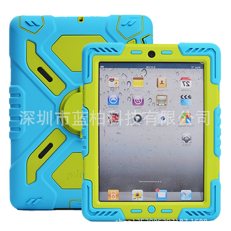 High Quality Case Cover For iPad 4 Shockproof For Apple Tablet With Stand Colorful iPad 2 / 3