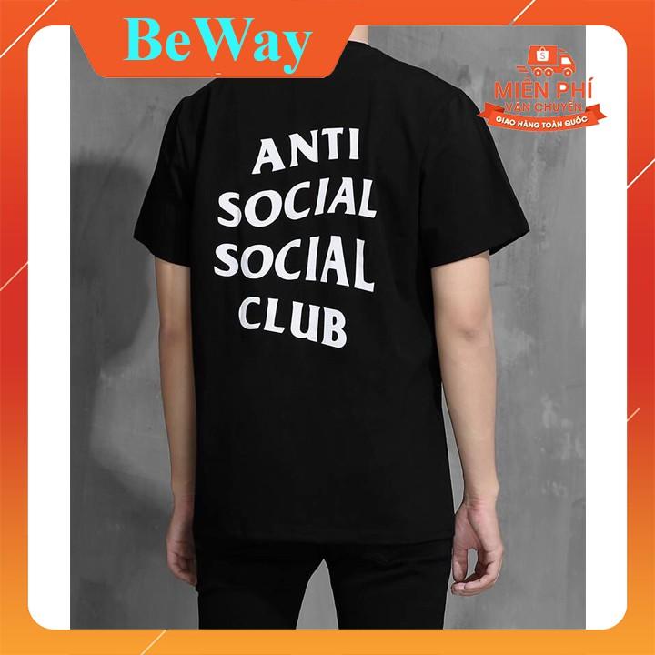 Áo thun anti social social club - Áo thun unisex tay lỡ form rộng BeWay