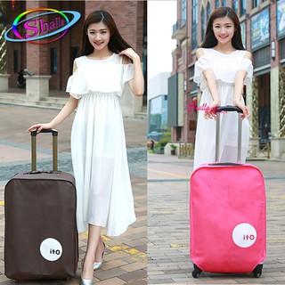 Vải Bọc trùm Vali nhựa Size 20-24-28 inch (nâu, hồng, xanh, đen, trắng) thumbnail