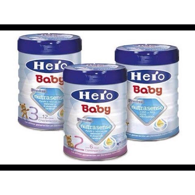 Sữa Hero baby 1,2,3 800g Tây Ban Nha