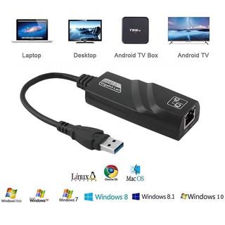 USB Sang Lan – Cáp Chuyển Đổi USB 3.0 Sang Lan 10-100-1000 Mbps Gigabit .Dây chuyển đổi USB 3.0 sang cổng mạng lan RJ45