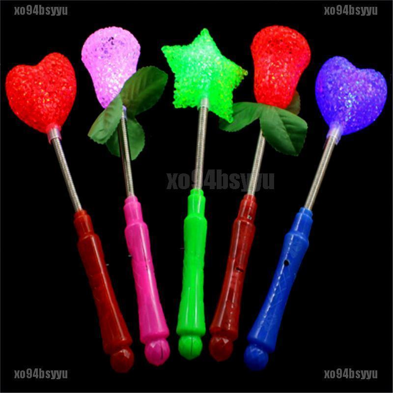 [xo94bsyyu]Star LED Toys Luxury Magic Star Wand Flashing Light Up Stick For X-