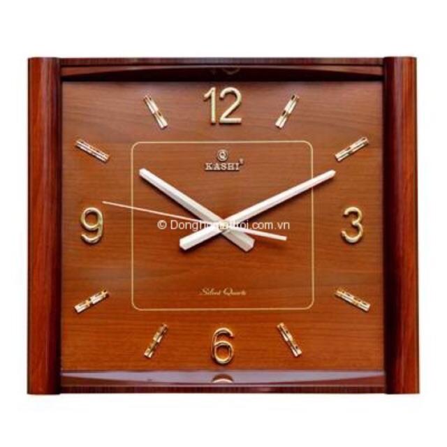 Đồng hồ treo tường Kashi K67 màu nâu kim trôi siêu tĩnh