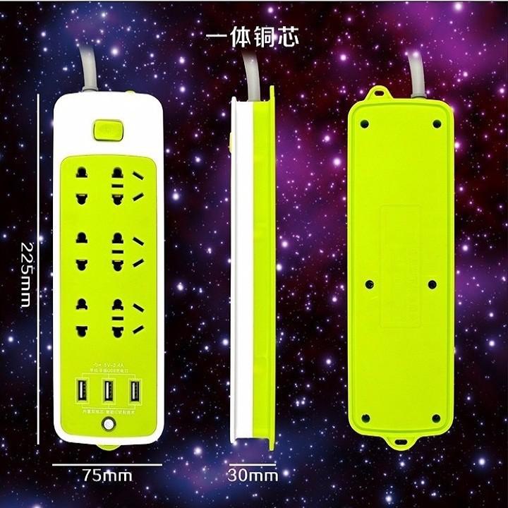 Kết quả hình ảnh cho ổ điện xanh lá có 3 usb sạc đt