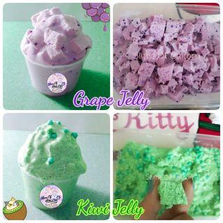 Slime Jelly – Thạch màu tím và Xanh lá (Jelly cubes)
