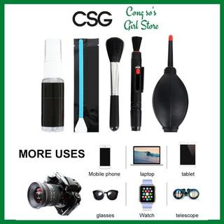 Vệ sinh laptop, macbook, điện thoại cao cấp 9 món Vệ sinh máy tính, máy ảnh có túi lưới đựng CSG BVSMA thumbnail