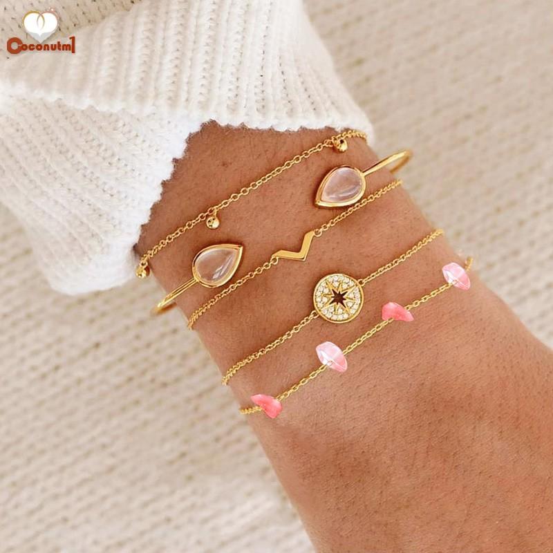 C✞ 5PCS Women Bracelet Vintage Boho Small Chain Bangle for Ladies Jewelry - 15125315 , 2457679924 , 322_2457679924 , 64890 , C-5PCS-Women-Bracelet-Vintage-Boho-Small-Chain-Bangle-for-Ladies-Jewelry-322_2457679924 , shopee.vn , C✞ 5PCS Women Bracelet Vintage Boho Small Chain Bangle for Ladies Jewelry