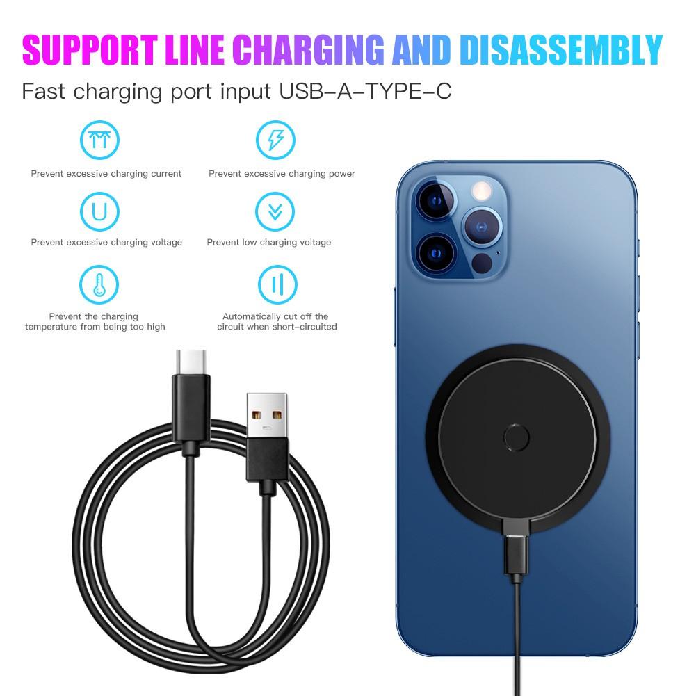 Đế Sạc Nhanh Không Dây Cho Iphone 12 Huawei Samsung Xiaomi