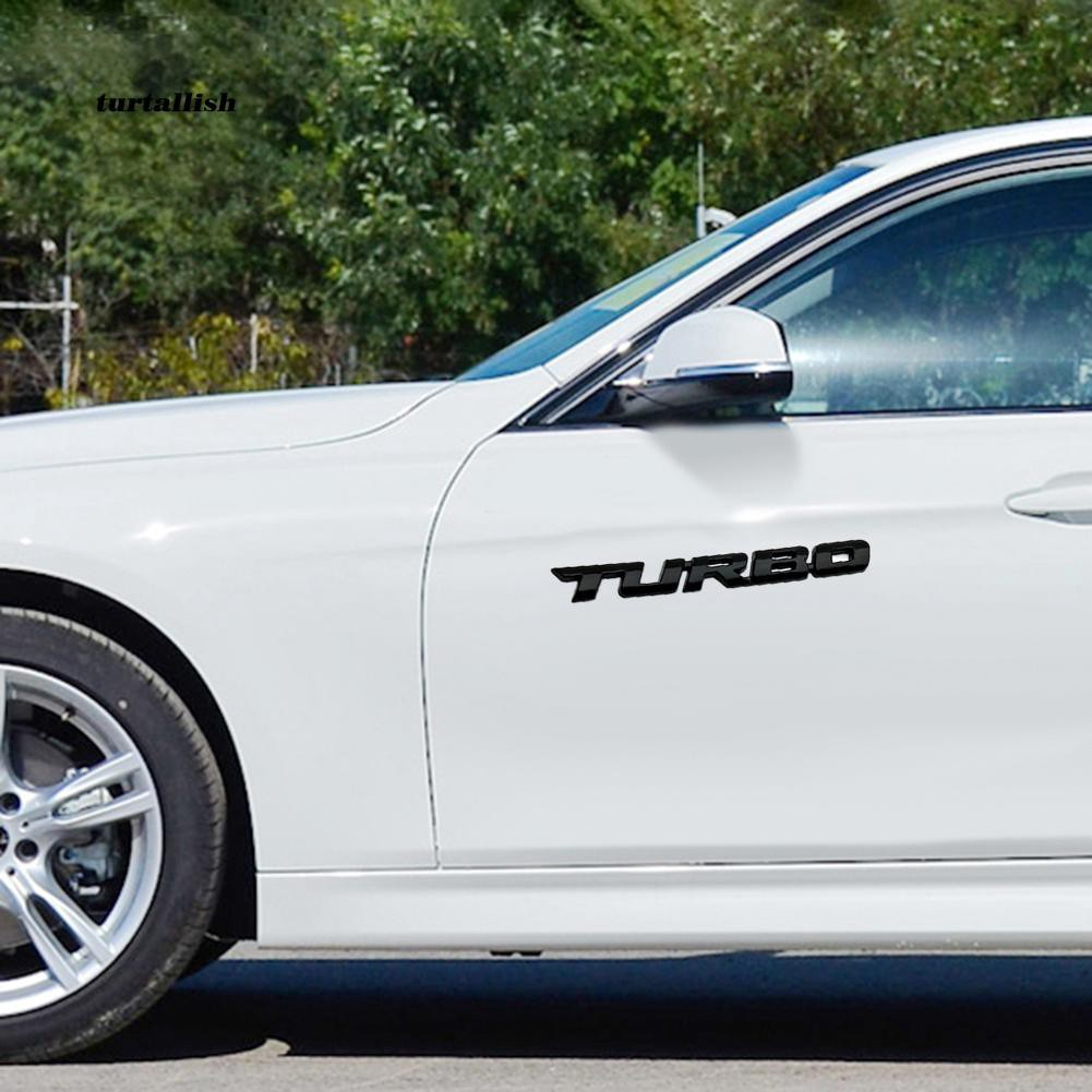 TUR♥Universal Turbo Letter 3D Car Motorcycle Auto Emblem Badge Decal Sticker Decor