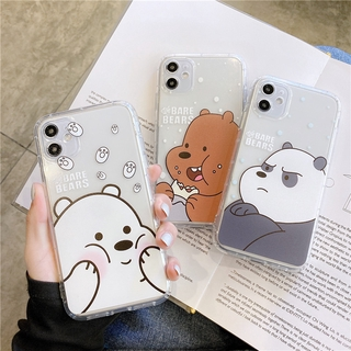 Cute We Bare Bears Soft Case For IPhone12 Mini 11 Pro Max 6 7 8 Plus Xs Xr Se2 Case Silicone Cover