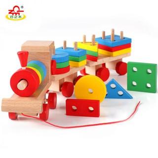 Đồ chơi gỗ tàu hoả lắp ráp 3 toa